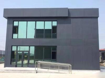 曹妃甸化工产业园办公区采用天物镀铝锌120g高耐候彩板